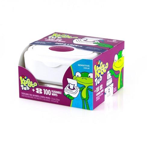 Kandoo Sensitive Flushable Wipes Tub - 100ct - image 1 of 4