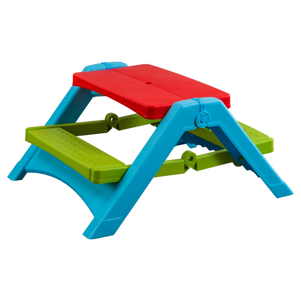 PalPlay Foldable Picnic Table, Multi-Colored