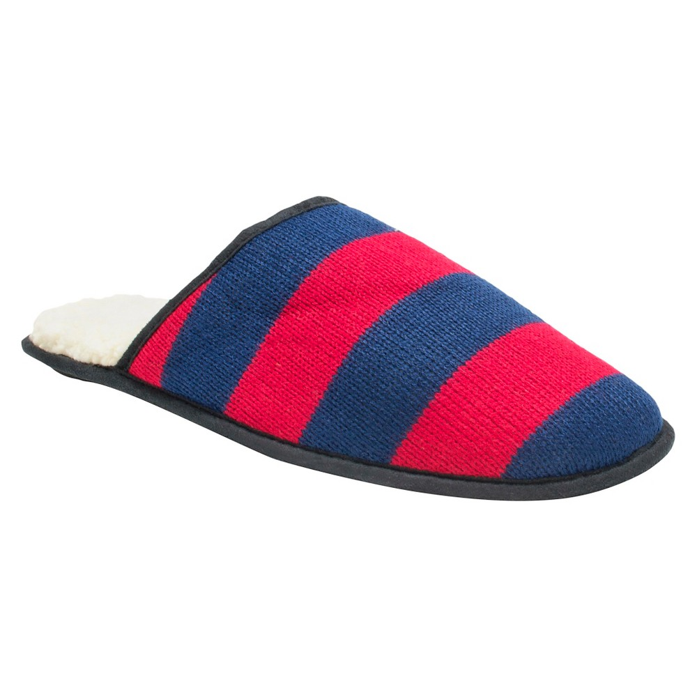 Men's Muk Luks Game Day Scuffs - Blue/Red L