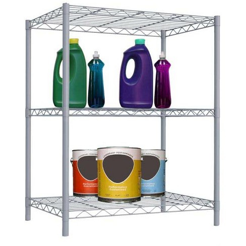 Home Basics 3 Tier Steel Wire Shelf, Grey - image 1 of 3