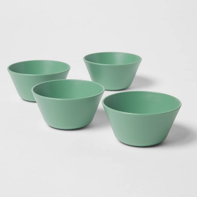 7oz 4pk Plastic Mini Bowls Green - Room Essentials™