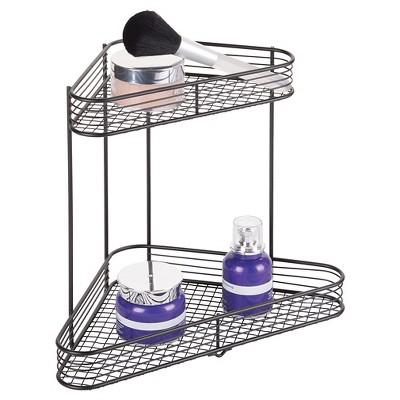 Bathroom Corner Storage Shelves (2 Tier) Black   Room Essentials™ : Target