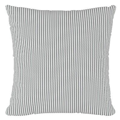 Charcoal Stripe Throw Pillow - Cloth & Co
