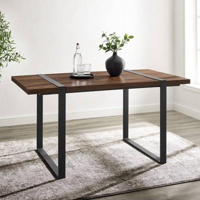 Urban Blend Metal And Wood Rectangle Dining Table - Saracina Home : Target