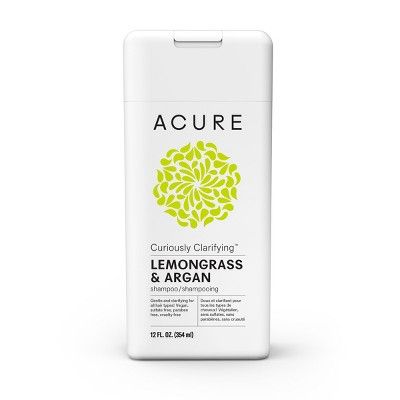 Acure Curiously Clarifying Lemongrass & Argan Shampoo   12 Fl Oz by Acure Organics