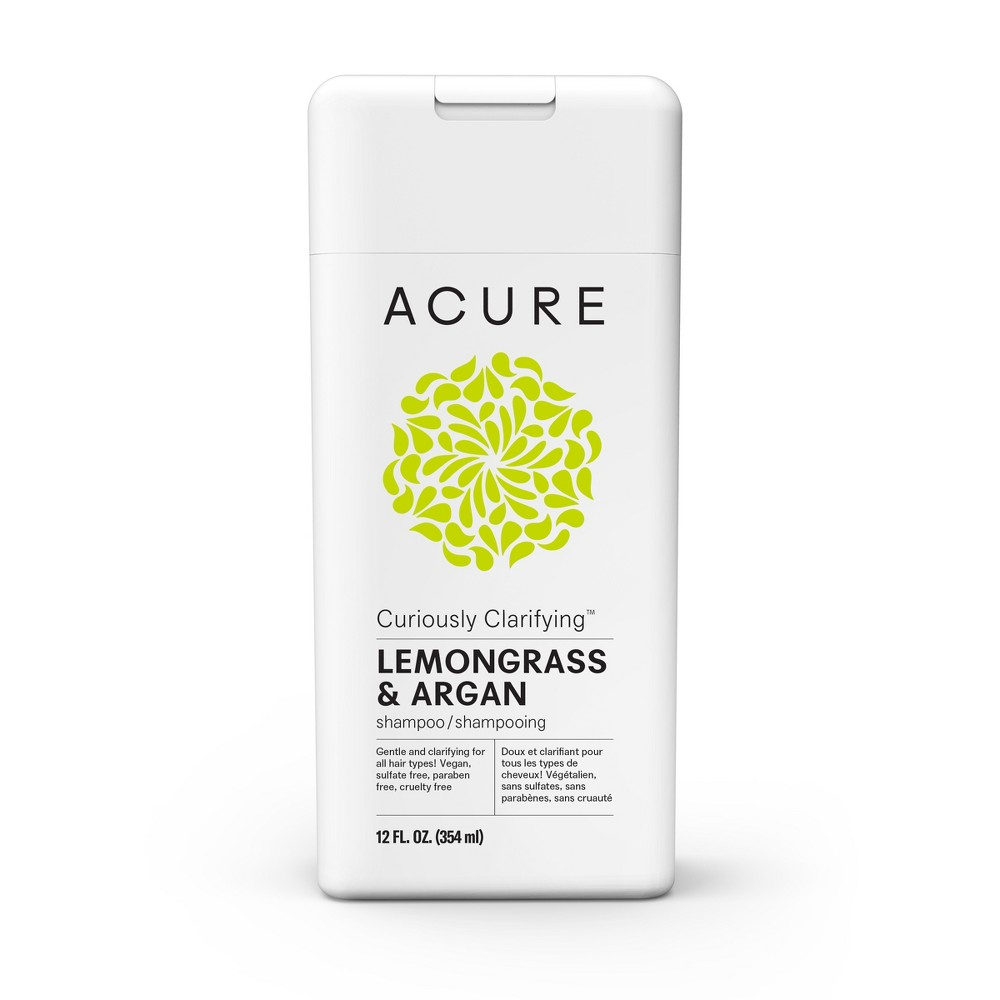 Image of Acure Curiously Clarifying Lemongrass & Argan Shampoo - 12 fl oz