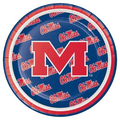 "8ct University of Mississippi 7"" Dessert Plates - NCAA"