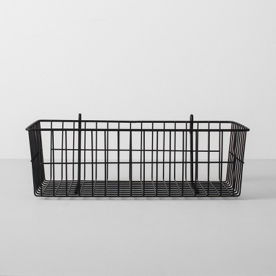 Wire Shelf Hanging Accessory Basket Black - Made By Design™