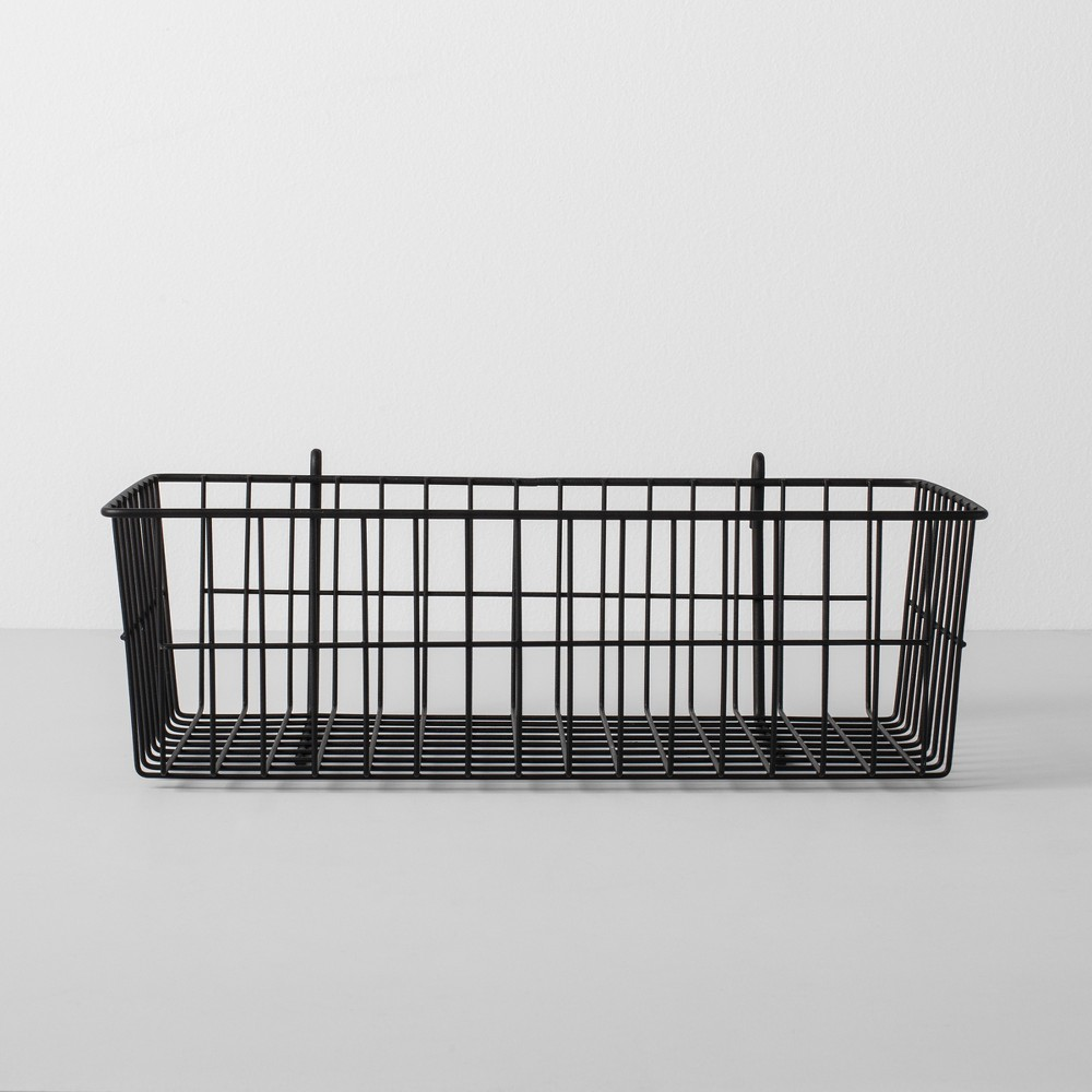 Wire Shelf Hanging Accessory Basket Black - Made By Design
