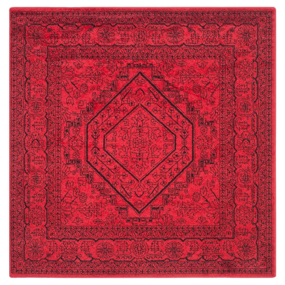 Aldwin Area Rug - Red/Black (6'x6') - Safavieh