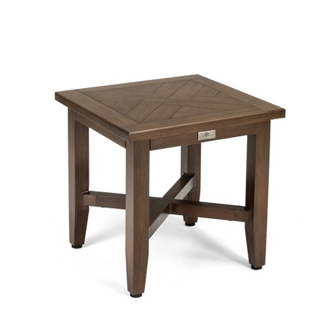 Bahamas Square Aluminum Outdoor Side Table Blue Oak Outdoor Target