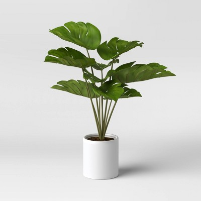 "21"" x 23"" Artificial Monstera Arrangement in Ceramic Pot - Project 62™"