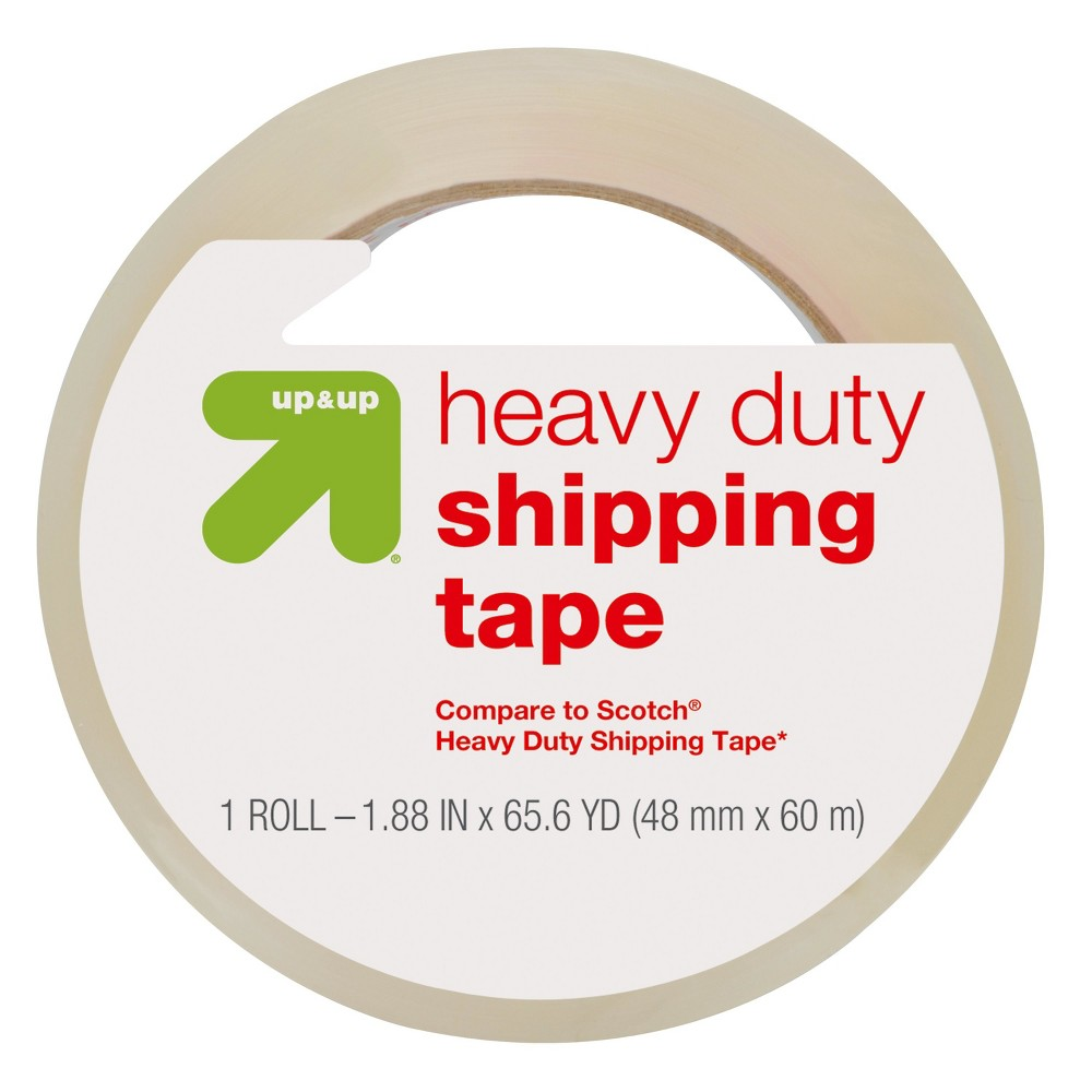 Heavy Duty Shipping Tape (Compare to Scotch Heavy Duty Shipping Tape) - Up&Up, Clear