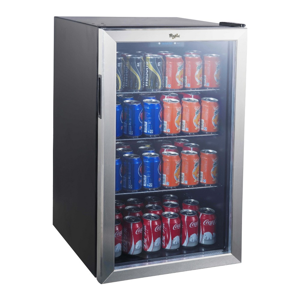 Whirlpool 4.5 Cu. Ft. Mini Refrigerator Beverage Center – Stainless Steel JC-133EZY, Black 51461989
