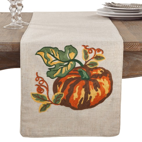 Embroidered Pumpkin Runner - image 1 of 2