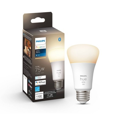 Philips Hue A19 60W Smart LED Bulb White - image 1 of 4