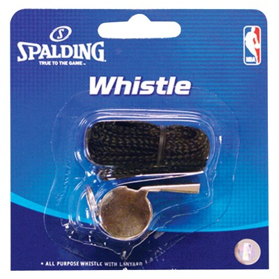 Spalding Basketball Metal Whistle with Lanyard