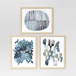 Framed Watercolor Blue Abstracts 16 x 20 3pk - Project 62™