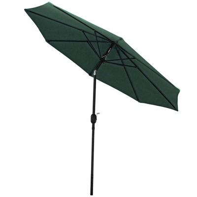 Aluminum Market Tilt Patio Umbrella 9u0027   Green   Sunnydaze Decor : Target