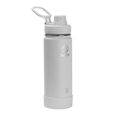 Takeya 18oz Actives Insulated Stainless Steel Water Bottle with Spout Lid - Artic White