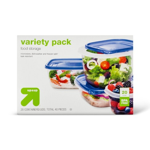 Snap And Store Variety Pack Food Storage Container - 20ct/32oz - Up&Up™ - image 1 of 3