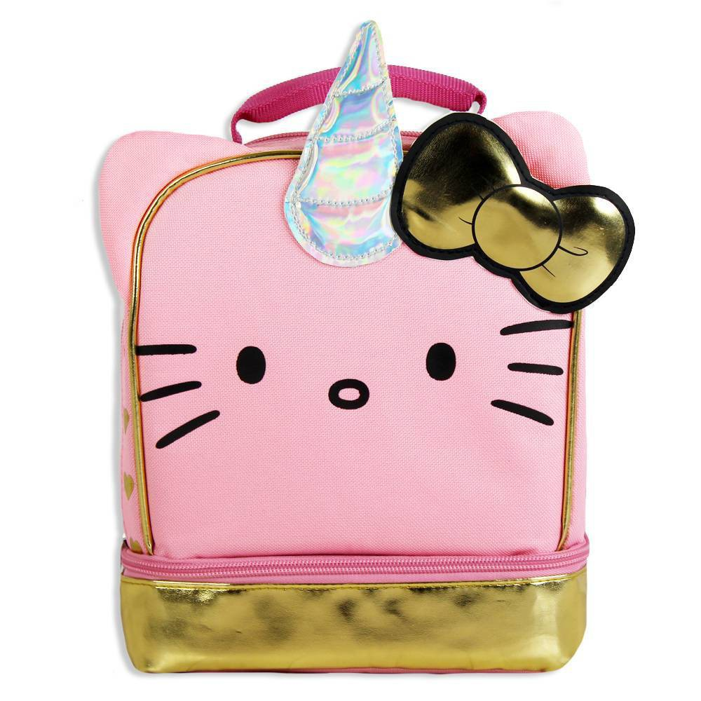 Image of Hello Kitty Unicorn Dual Compartment Lunch Bag
