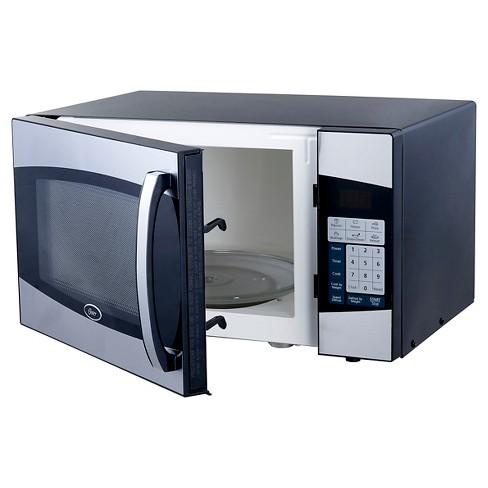 Oster 0 9 Cu Ft 900 Watt Digital Microwave Oven Black Stainless Steel Oxf0901 Target