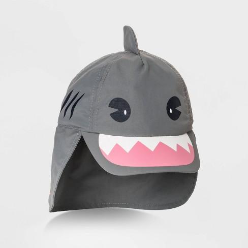 Toddler Boys' Shark Swim Hat - Cat & Jack™ Gray - image 1 of 2