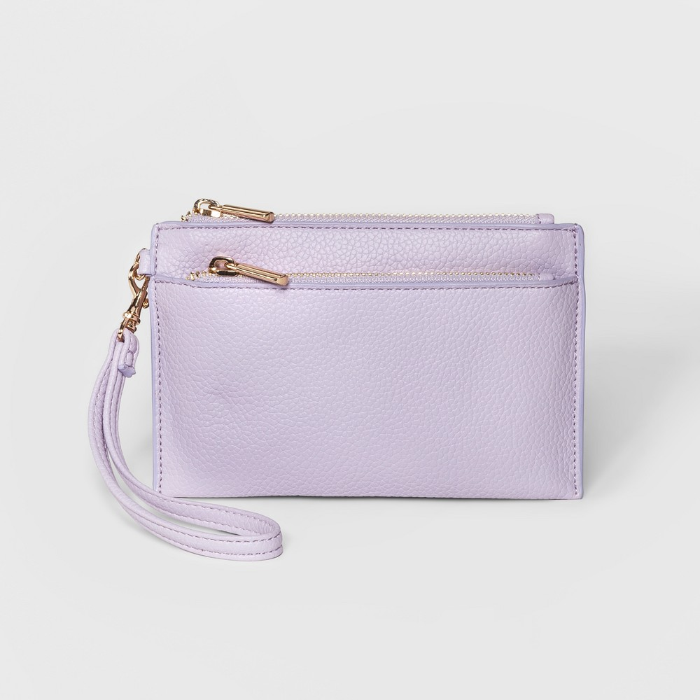 Double Zip Pouch Clutch - A New Day Purple, Women's, Size: Small
