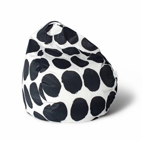 "27""x16"" Bean Bag Chair Black/White - Marimekko for Target - image 1 of 1"