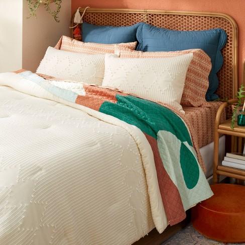 Diamond Clipped Comforter & Sham Set Cream - Opalhouse™ designed with Jungalow™ - image 1 of 4