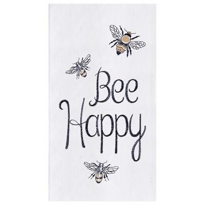 C&F Home Bee Happy Flour Sack Cotton Kitchen Towel