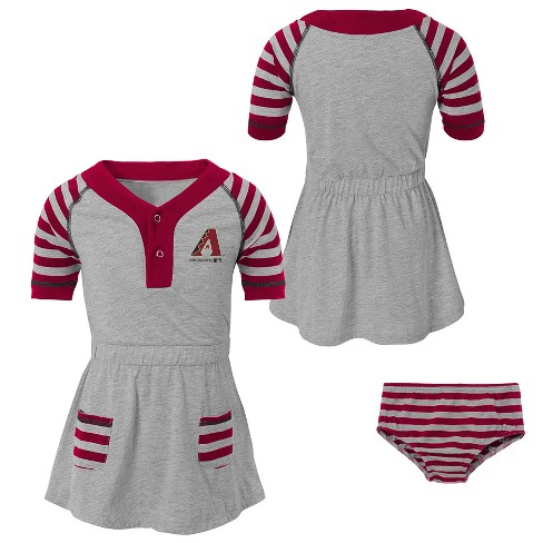 c533618c235 MLB Arizona Diamondbacks Girls' Striped Gray Infant/Toddler Dress : Target