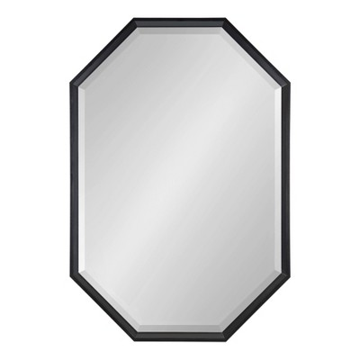 """38"""" x 26"""" Calter Elongated Octagon Wall Mirror Black - Kate and Laurel"""