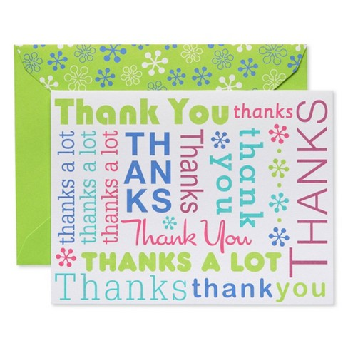 Thank You Cards And Lime Green
