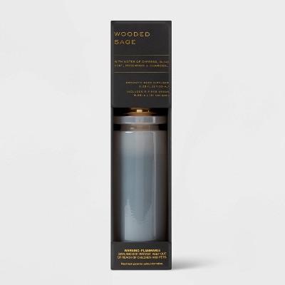 100ml Wooded Sage Black Label Fiber Oil Reed Diffuser - Threshold™
