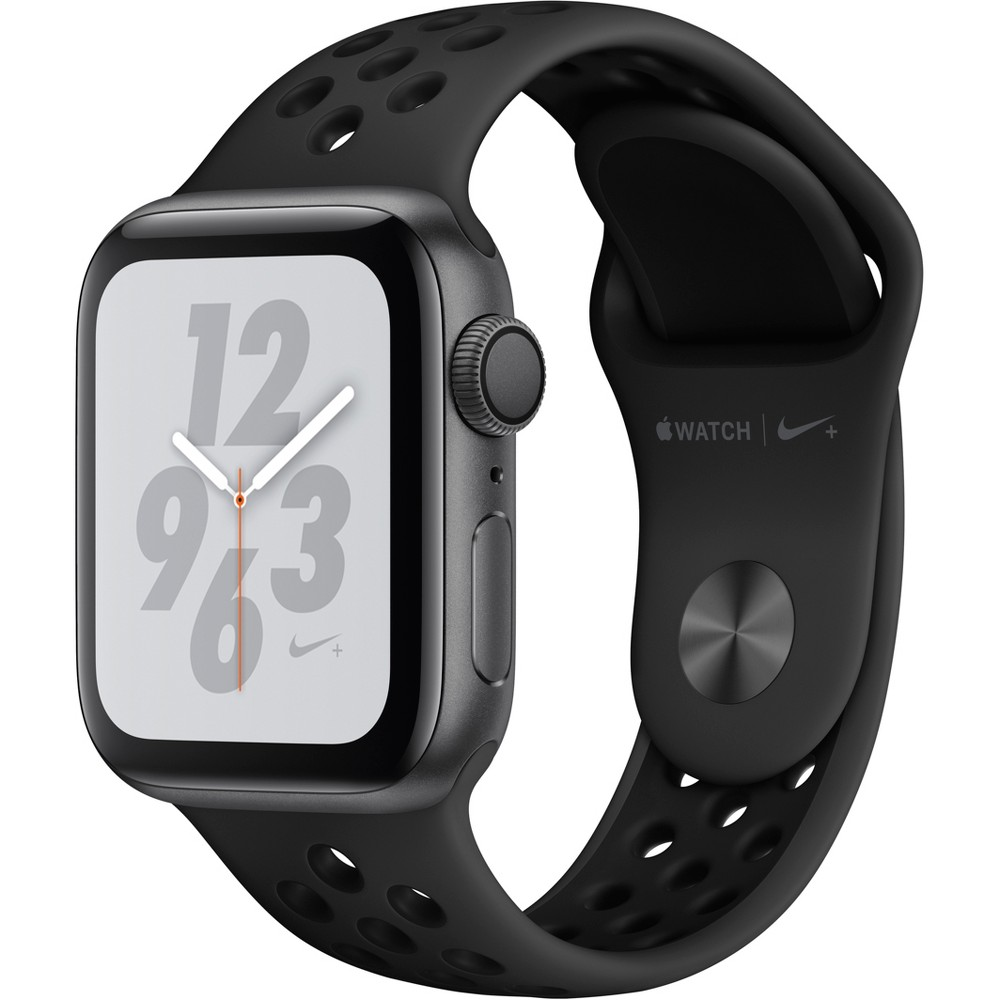 Apple Watch Series 4 Nike+ Gps 44mm Space Gray Aluminum Case with Nike Sport Band - Anthracite/Black, Black Sport Band