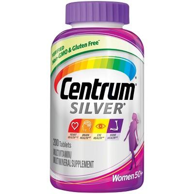 Centrum Silver Women 50+ Multivitamin / Multimineral Dietary Supplement Tablets