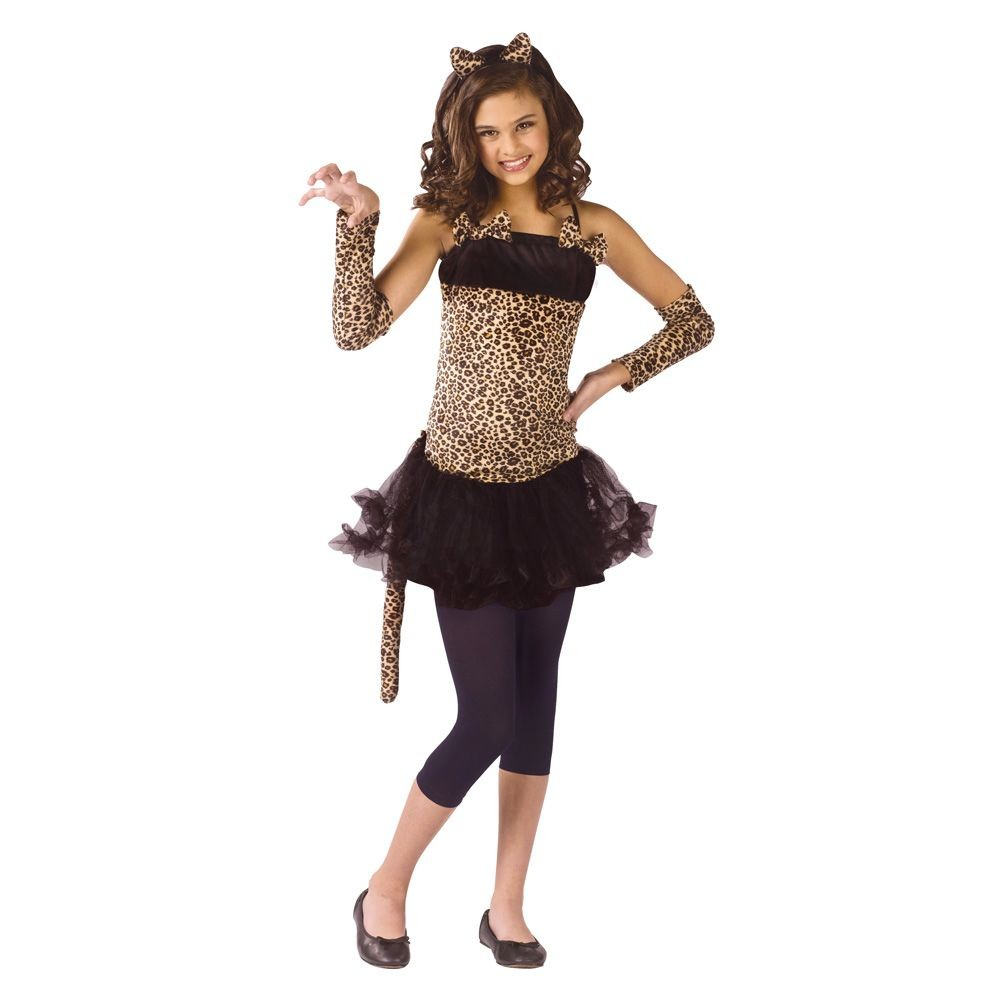 Girls' Wild Cat Costume Small (4-6), Size: S(4-6)