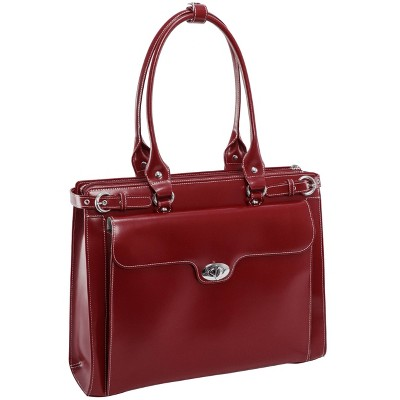 "McKlein Winnetka 15"" Leather Ladies' Laptop Handbag - Red"