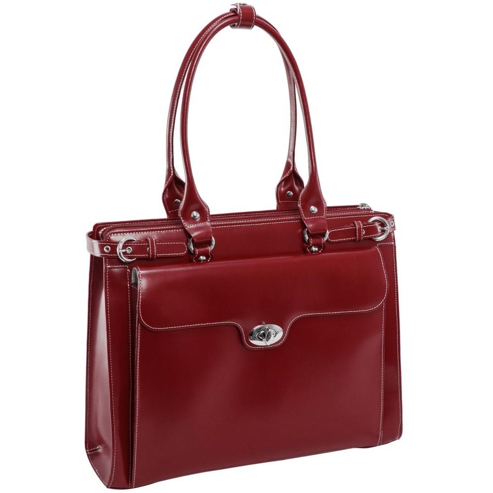 Mcklein Winnetka 15 34 Leather Ladies 39 Laptop Handbag Red
