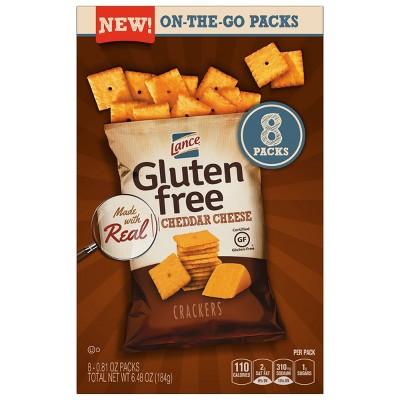 Lance Gluten Free Cheddar Cheese Crackers - 6.48oz