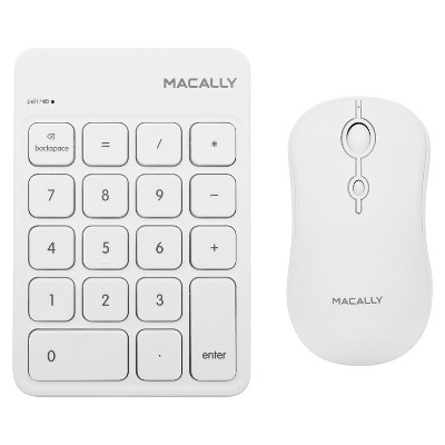 Macally Wireless Rechargeable Bluetooth Keypad + Mouse Combo