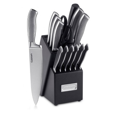 Cuisinart Graphix 15pc Stainless Steel Cutlery Block Set -  C77SS-15P