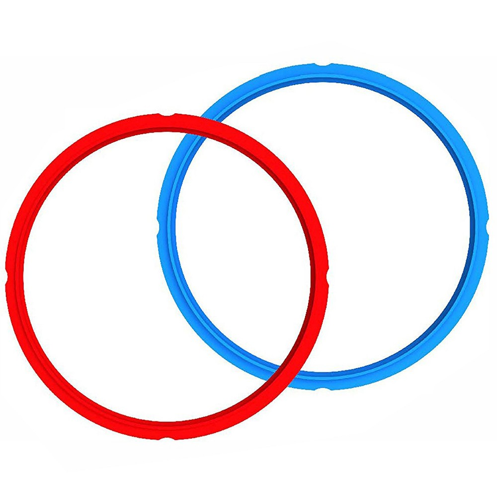 Image of 3qt Red/Blue Sealing Rings (Combo Pack), Red Blue