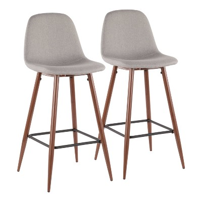 Set of 2 Pebble Mid-Century Modern Barstools - LumiSource