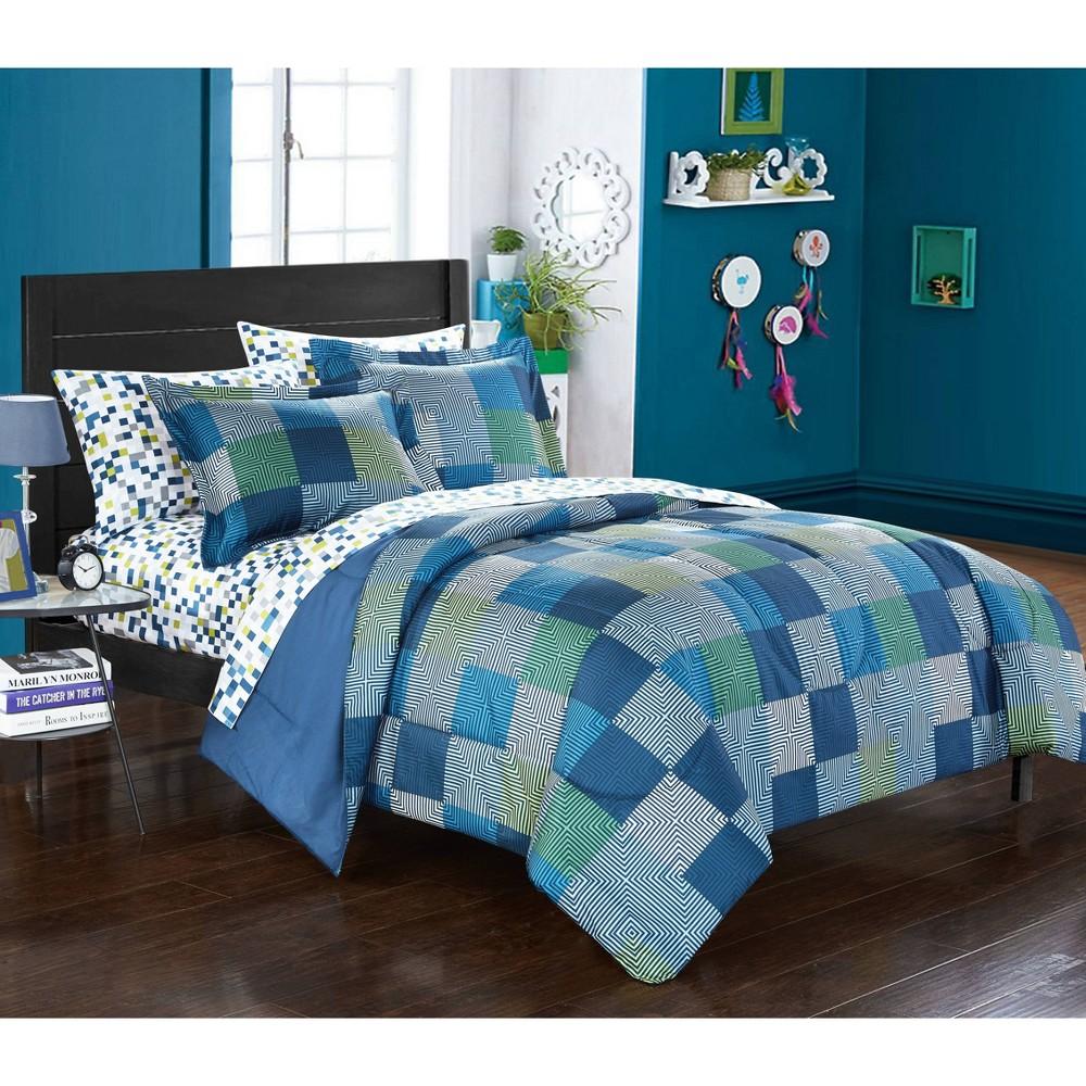 Image of Full Geo Blocks Bed in a Bag Blue - Heritage Club