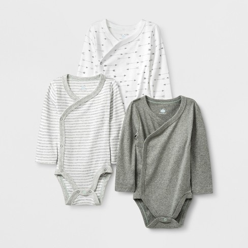 white//gray heather Essentials Baby 6-Pack Long-Sleeve Bodysuit 24M