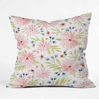 """16""""x16"""" Heather Dutton Amelia Throw Pillow Pink - society6"""