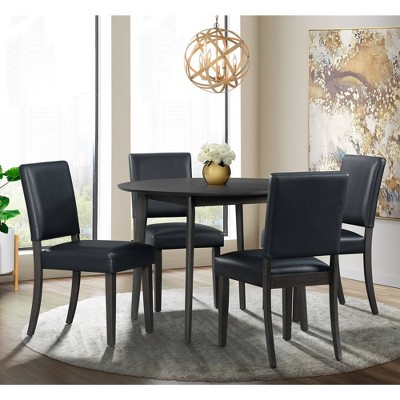 5pc Vail Round Dining Set Navy/Brown - Picket House Furnishings